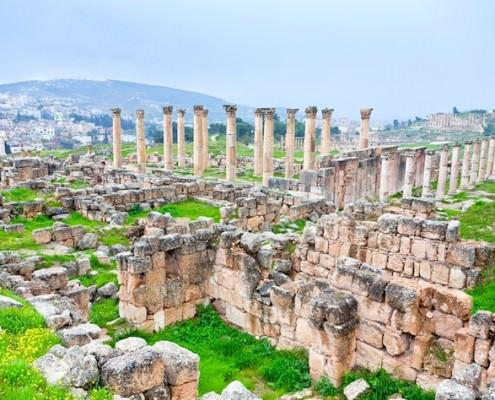 Panorama of ancient city of Jerash
