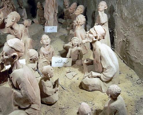 Pupils and teacher, Mut Etnographic Museum