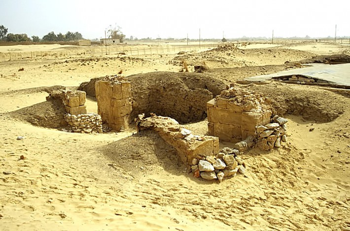 Ruins at the Temple of Ain El Muftella