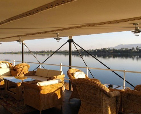 SS Sudan Nile Steamer - View from Deck