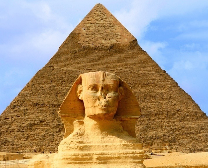 The Great Sphinx and Pyramid, Egypt