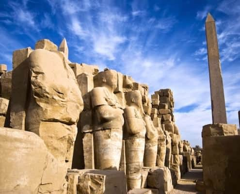 Statues and Obelisk - Temple Complex of Karnak