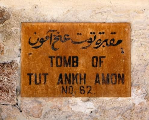 Tablet of the tomb of Tutankhamun in the Valley of the Kings near Luxor (Thebes), Egypt