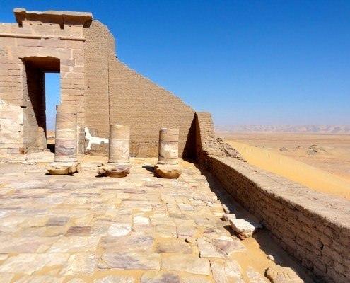 Temple of Qasr Dush, Kharga Oasis view