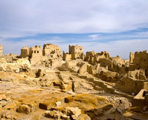 Ruins at the Amun Temple, Siwa Oasis
