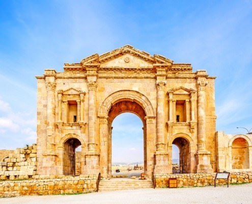 The Arch of Hadrian in Jerash, Jordan