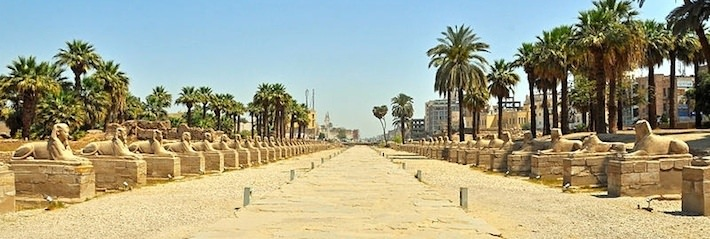 The Dromos or Sphinxes Avenue near the Temple of Luxor - Photo by Marc Ryckaert.jpg