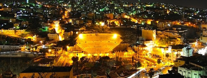 The Roman Theatre and Amman by Night