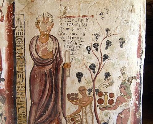Tomb of Petosiris, right wall, Al Mizawaka, Egypt