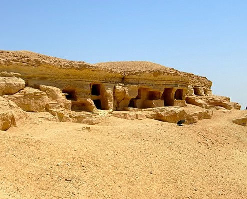 Tombs at the north side of Mountain of the the Dead (Gebel el-Mawta)