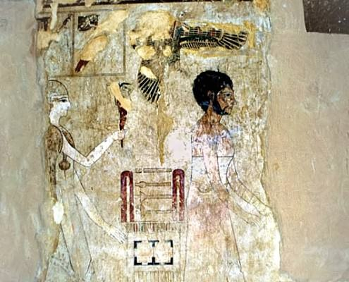 Wall mural in tomb of Si-Amun, Mountain of the Dead