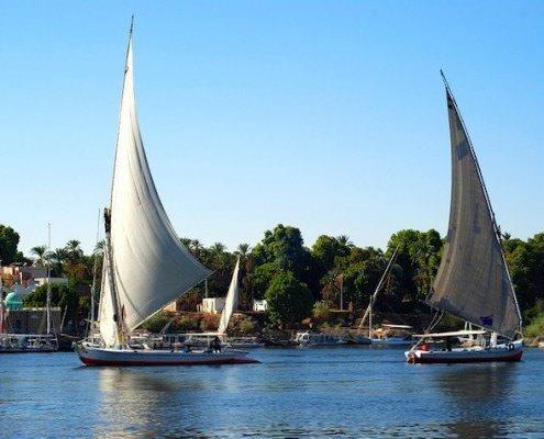 Felucca sail boats