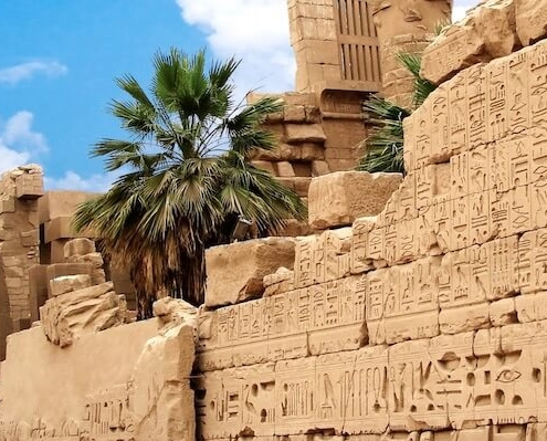 Egypt packages tours from India - Wall with hieroglyphs