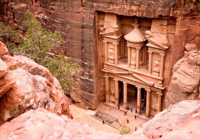 Egypt and Jordan Tours - The treasury at Petra in Jordan
