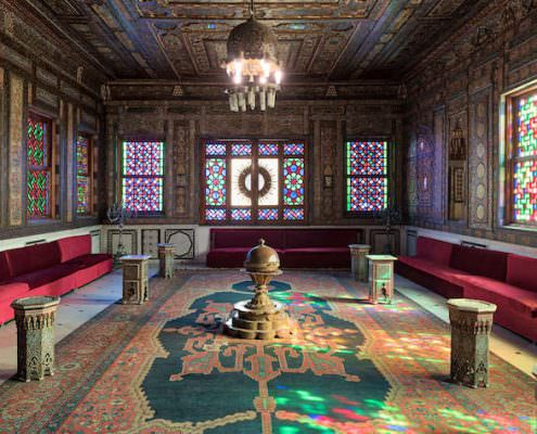 Manial Palace of Prince Mohammed Ali. The Syrian Hall