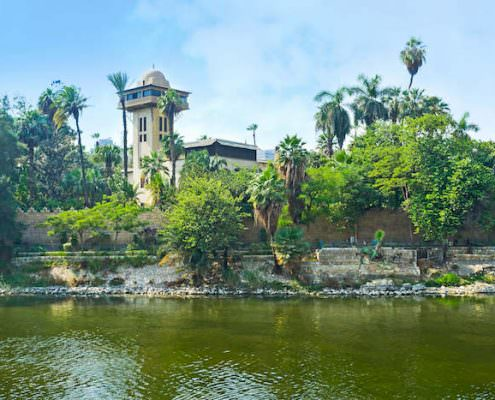 The Al Manial Museum, located on the island and surrounded by lush garden, Cairo, Egypt