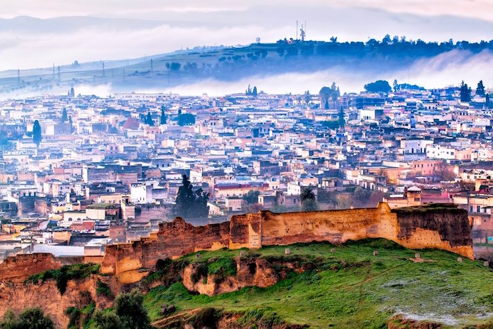 Morocco Travel Packages - on a frosty foggy winter morning