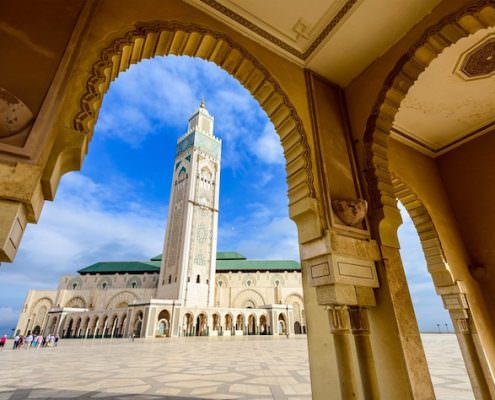 Morocco Trip Package - Hassan II Mosque in Casablanca, Morocco.