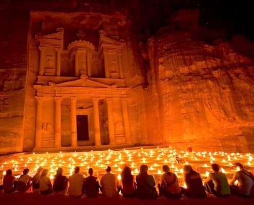 Morocco and Jordan Tours - Petra at Night, Jordan