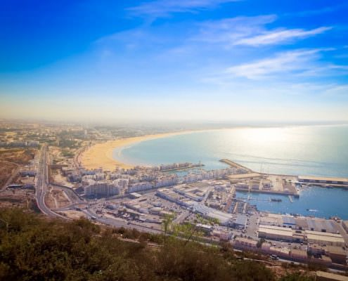 Agadir Tours - A view of Agadir from the mountains