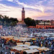 Marrakech Tours - Jemaa el Fna Square at sunset