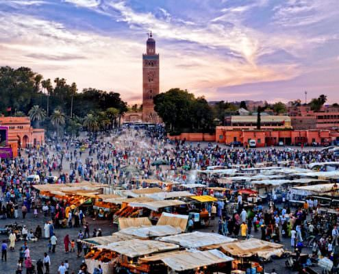 Marrakech Tours - Jemaa el Fna Square at sunset