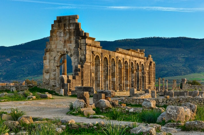 Ruins in the Ancient Roman City of Volubilis