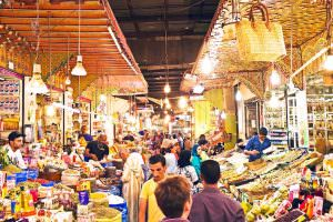 Destinations to Visit in Casablanca - Typical street market in old Moroccan medina