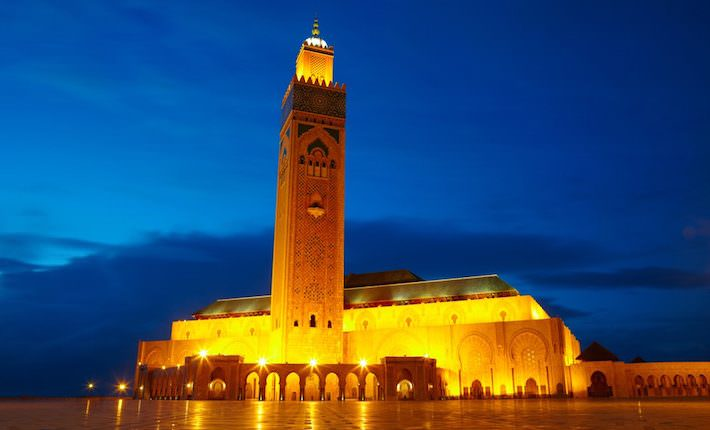 Casablanca Tourist Attractions - Hassan II Mosque in Casablanca, Morocco Africa