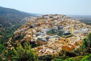 Islamic holy town Moulay Idriss near Meknes, Morocco