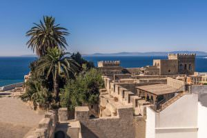 Tangier Tourist Attractions - The old medina of Tangier, Morocco, facing the Strait of Gibraltar and the Spanish coast