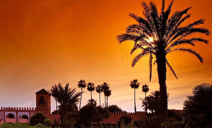 Morocco Tours from the UK - Marrakech Sunset