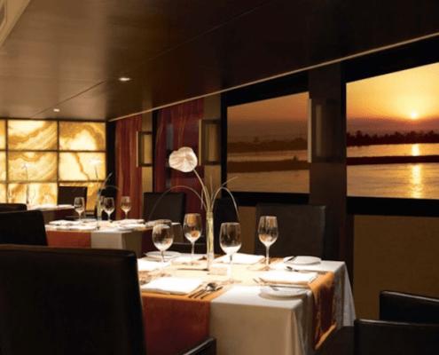 The Oberoi Zahra Luxury Nile Cruise Restaurant