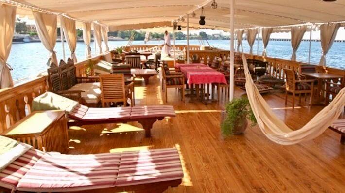 Sonesta Amirat Dahabiya Nile Cruise Sun Deck