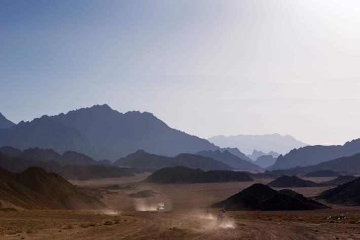 ATVs in the Sinai Desert, Egypt