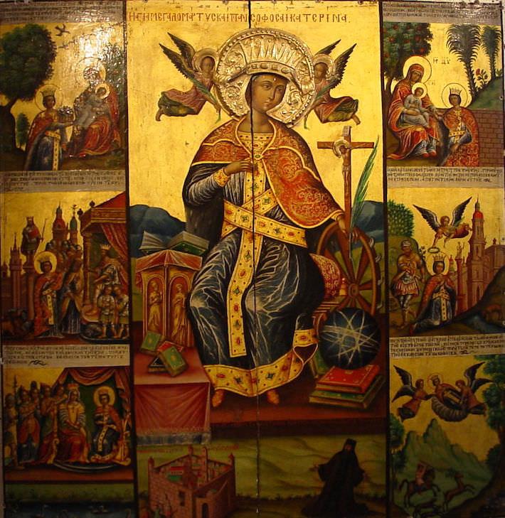Icon of Saint Catherine - Monastery of St. Catherine Sinai