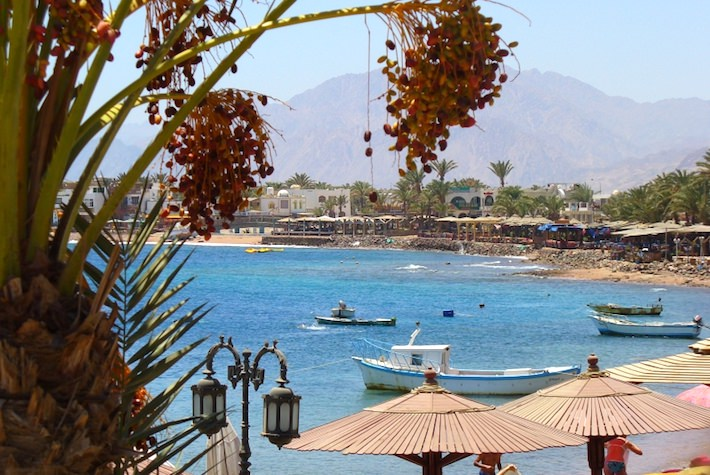 View from dive shop in Dahab - Sinai Peninsula