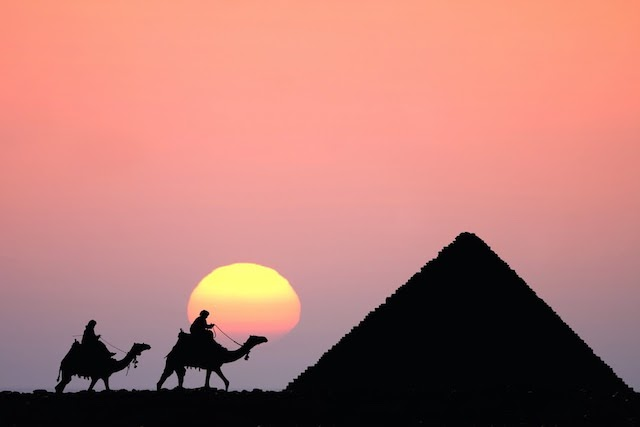 15 Day Egypt Tours - Pyramid at Sunset