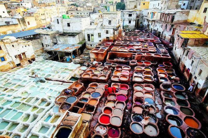 Morocco Group Tours - Tannery in Marrakech