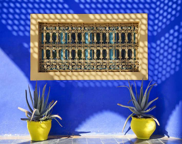 Arabic style window, Majorelle Gardens