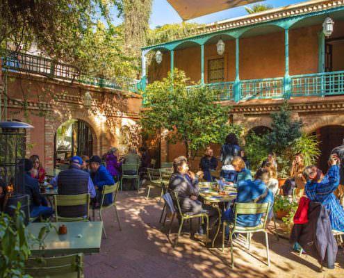Cafe in Majorelle Garden
