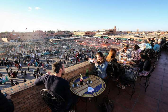 Coffee break over Jemaa el-Fnaa Square