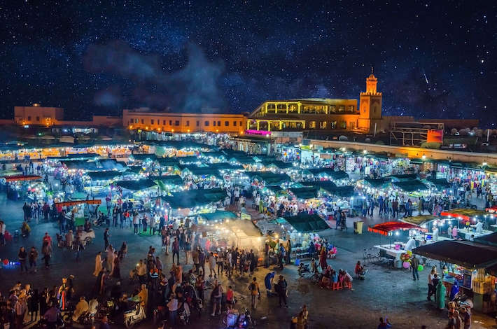 Jemaa el-Fna after dark