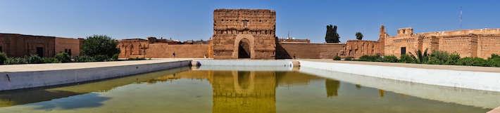 Saadian tombs mausoleum in Marrakech