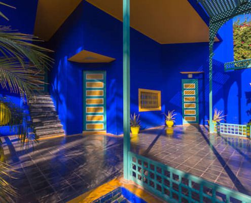View of the Jardin Majorelle. It was built 1923 by Jacques Majorelle and later rediscovered by Yves Saint Laurent