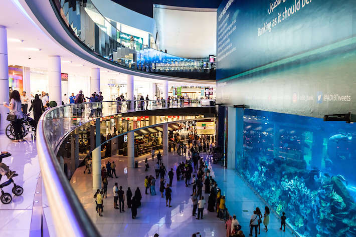 Aquarium in Dubai Mall - world's largest shopping mall, UAE