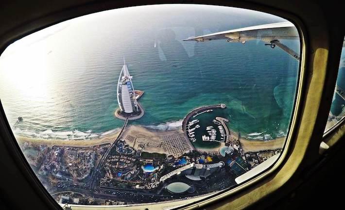 Burj Al Arab from-Seawings Seaplane