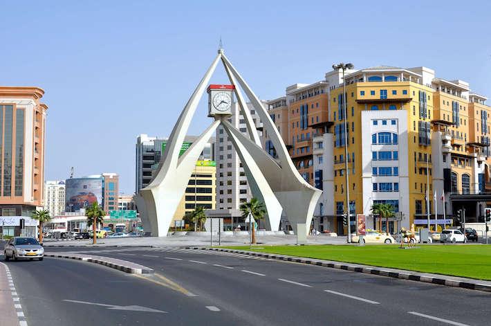 Clock tower in Deira in Dubai