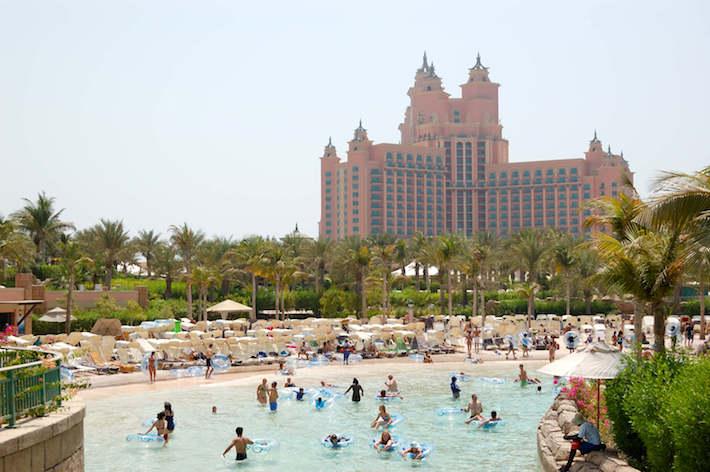 The Aquaventure waterpark of Atlantis the Palm hotel