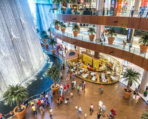 Waterfall in Dubai Mall